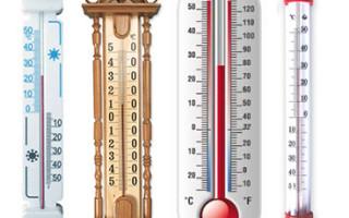 Виды термометров для измерения температуры воды