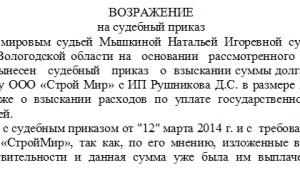 Заявление об отмене судебного приказа. Образец заполнения и бланк 2020 года