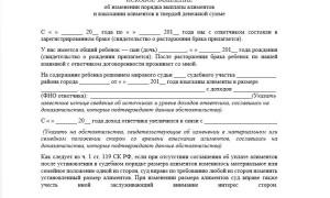 Исковое заявление об изменении размера алиментов: образец 2020 года