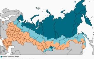 Районный коэффициент и северные надбавки к заработной плате по регионам России