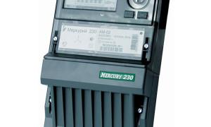 Технические характеристики электрического счетчика Меркурий 230 ам-01